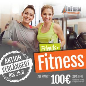Friends & Fitness – noch bis 28. August!